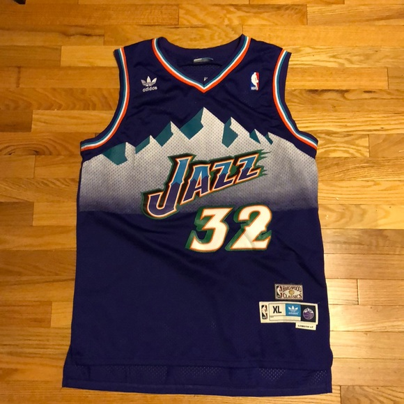 b80528e7a4a6 adidas Other - Vintage Utah Jazz Karl Malone Adidas Jersey